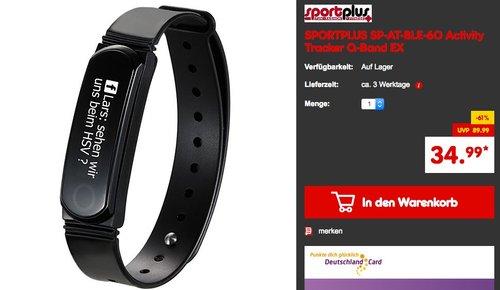 SportPlus Q-Band EX Activity Tracker  - jetzt 22% billiger