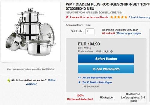 WMF Topf-Set Diadem Plus  5-teilig - jetzt 14% billiger