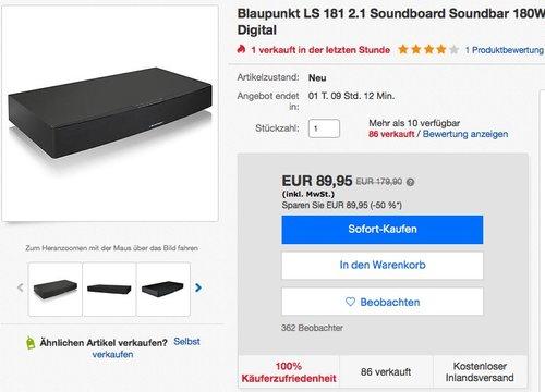 Blaupunkt LS 181 2.1 Soundboard mit integriertem Subwoofer - jetzt 10% billiger