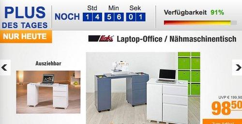 Link's Laptop-Office / Nähmaschinentisch - jetzt 28% billiger