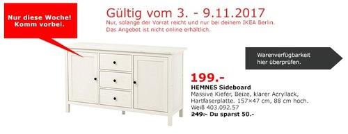 IKEA HEMNES Sideboard - jetzt 20% billiger