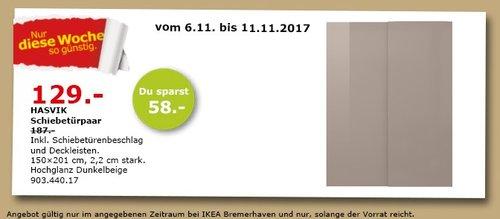 IKEA HAVSIK Schiebetürpaar - jetzt 31% billiger