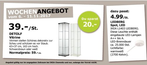IKEA DETOLF Vitrine - jetzt 34% billiger