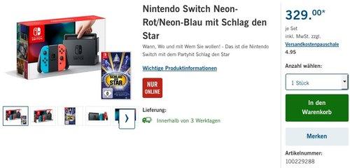 Nintendo Switch Neon-Rot/Neon-Blau - jetzt 3% billiger