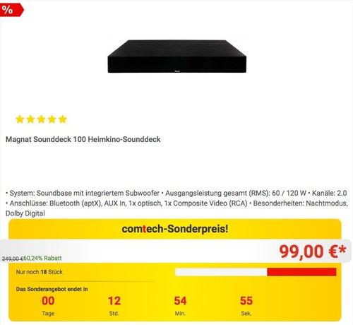 Magnat Sounddeck 100 Heimkino-Sounddeck - jetzt 34% billiger