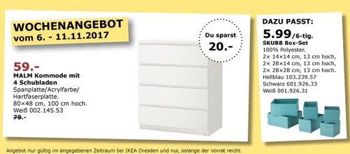 IKEA MALM Kommode mit 4 Schubladen  - jetzt 25% billiger