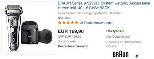BRAUN Series 9-9295cc Wet&Dry Rasierer - jetzt 6% billiger