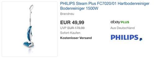 PHILIPS Steam Plus FC7020/01 - jetzt 44% billiger