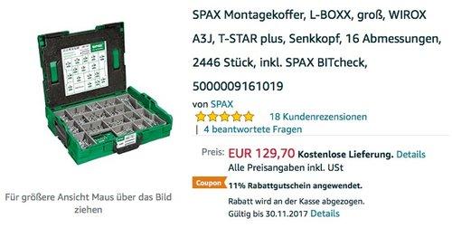 SPAX Montagekoffer, L-BOXX - jetzt 11% billiger
