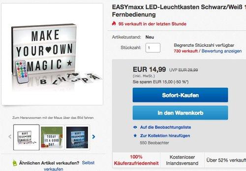 EASYmaxx LED-Leuchtkasten - jetzt 25% billiger