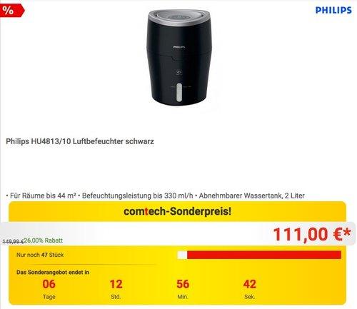 Philips HU4813/10 Luftbefeuchter - jetzt 18% billiger