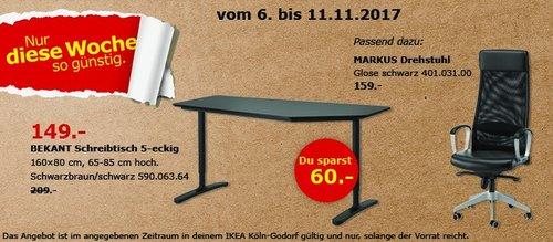 IKEA BEKANT Schreibtisch - jetzt 29% billiger