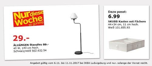 IKEA ÄLVÄNGEN Standleuchte  - jetzt 51% billiger