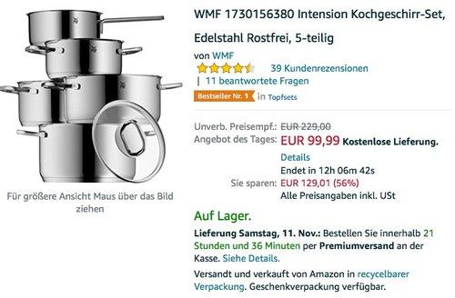 WMF Intension Kochgeschirr-Set, Edelstahl Rostfrei, 5-teilig - jetzt 22% billiger