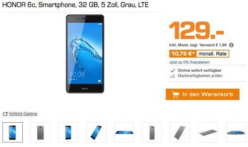 HONOR 6c Smartphone, 32 GB, 5 Zoll - jetzt 13% billiger