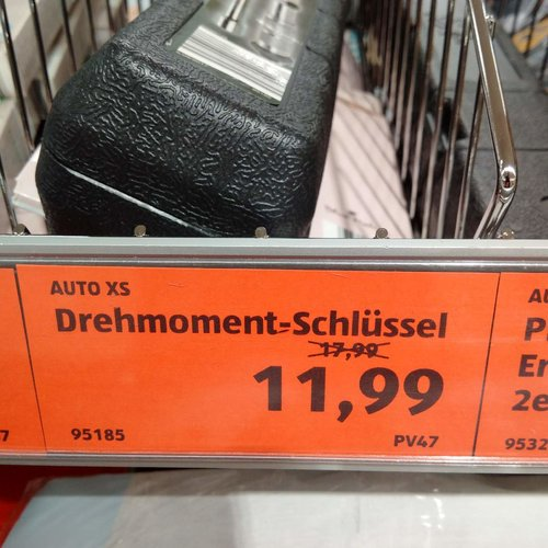 Auto XS Drehmoment - Schlüssel  - jetzt 33% billiger