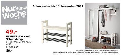 IKEA HEMNES Bank mit Schuhablage - jetzt 17% billiger