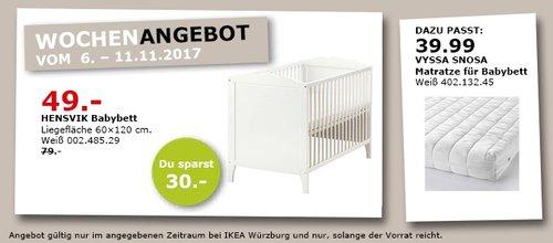 IKEA HENSVIK Babybett - jetzt 38% billiger