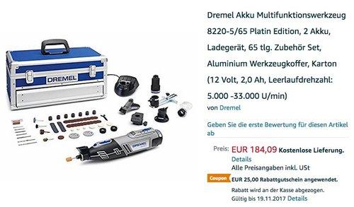 Dremel 8200-5/65 Platin-Edition Akku Multifunktionswerkzeug - jetzt 14% billiger