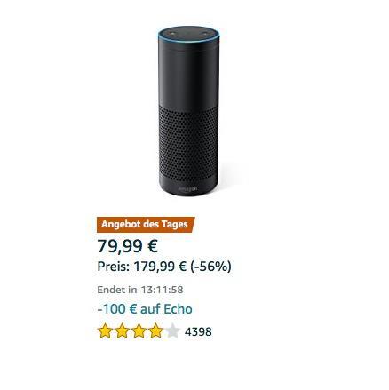 Amazon Echo, Schwarz (Vorherige Generation) - jetzt 20% billiger