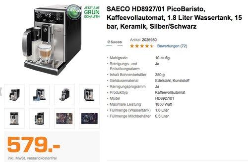 SAECO HD8927/01 PicoBaristo Kaffeevollautomat - jetzt 15% billiger
