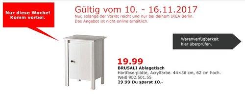 IKEA BRUSALI Ablagetisch - jetzt 33% billiger