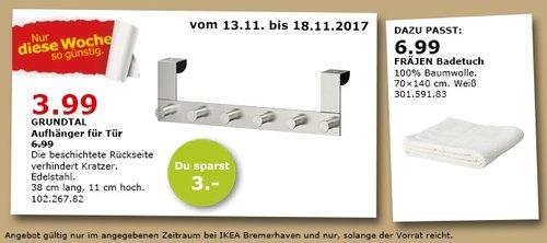 IKEA GRUNDTAL Aufhänger für Tür  - jetzt 43% billiger