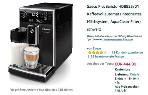 Saeco PicoBaristo HD8925/01 Kaffeevollautomat - jetzt 20% billiger