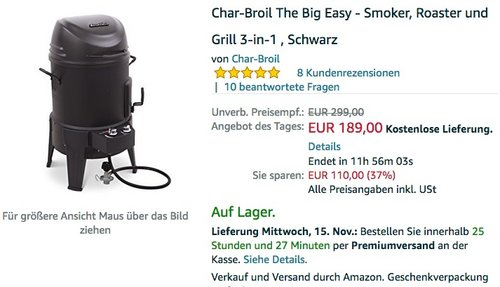 Char-Broil The Big Easy - Smoker - jetzt 14% billiger