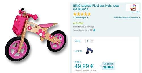 BINO Laufrad - jetzt 21% billiger