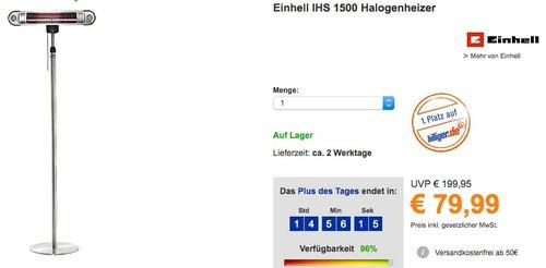 Einhell IHS 1500 Halogenheizer  - jetzt 19% billiger