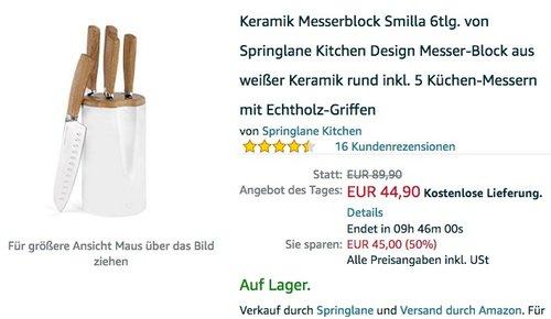 Keramik Messerblock Smilla 6tlg - jetzt 10% billiger