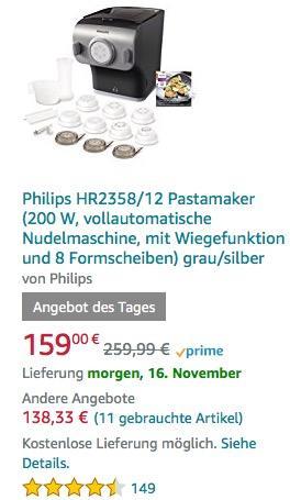 Philips HR2358/12 Pastamaker - jetzt 15% billiger