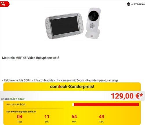 Motorola MBP 48 Video Babyphone - jetzt 13% billiger