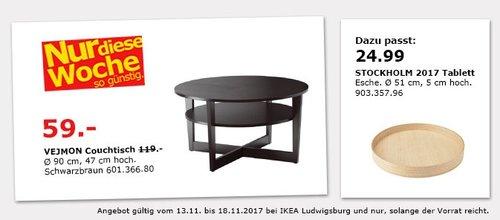 IKEA VEJMON Couchtisch - jetzt 50% billiger