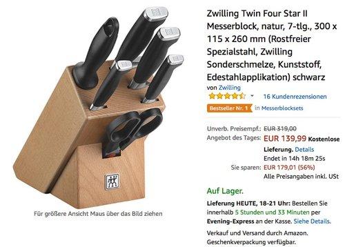 Zwilling Twin Four Star II Messerblock - jetzt 25% billiger