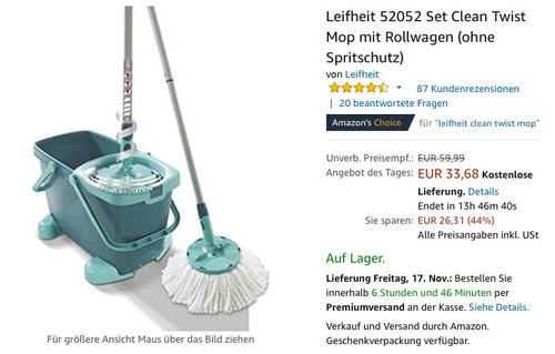 Leifheit 52052 Set Clean Twist Mop - jetzt 20% billiger