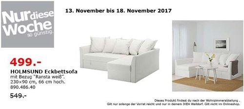 IKEA HOLMSUND Eckbettsofa - jetzt 9% billiger