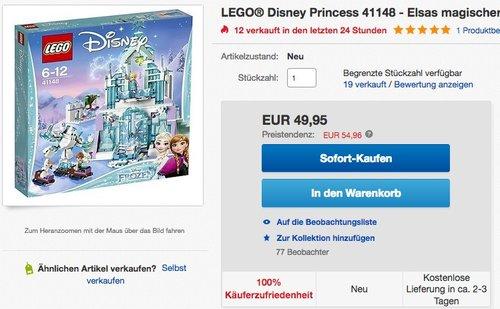 LEGO Disney Princess 41148 - Elsas magischer Eispalast - jetzt 15% billiger
