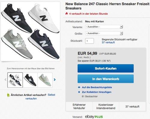 New Balance 247 Classic Herren Sneaker - jetzt 15% billiger