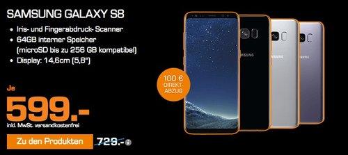 SAMSUNG Galaxy S8, Smartphone, 64 GB - jetzt 5% billiger