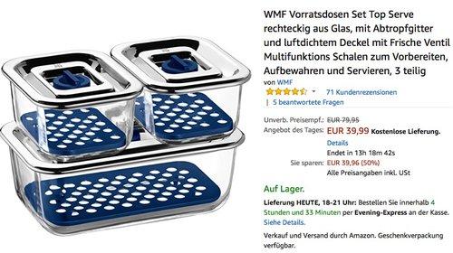 WMF Frischhalte- und Serviersystem-Set 3-teilig Top Serve - jetzt 20% billiger