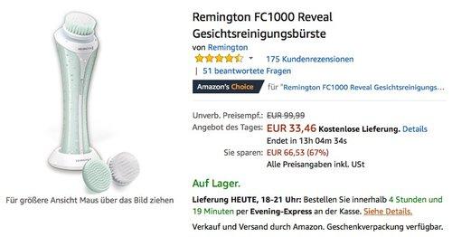 Remington FC1000 Reveal Gesichtsreinigungsbürste - jetzt 16% billiger