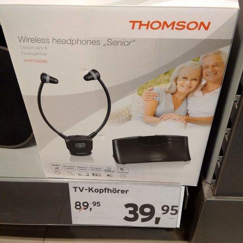Thomson Stereo Funk Kopfhörer WHP5305BK TV/HIFI - jetzt 49% billiger