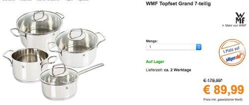 WMF Topfset Grand 7-teilig  - jetzt 8% billiger