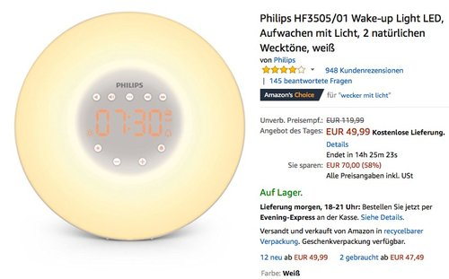 Philips HF3505/01 Wake-up Light - jetzt 16% billiger