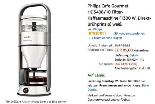 Philips Cafe Gourmet HD5408/10 Filter-Kaffeemaschine - jetzt 8% billiger