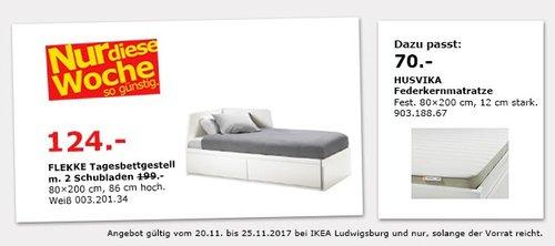 IKEA FLEKKE Tagesbettgestell mit 2 Schubladen - jetzt 38% billiger