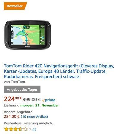 TomTom Rider 420 Navigationsgerät - jetzt 30% billiger