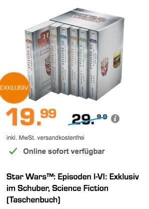 Star Wars™: Episoden I-VI: Exklusiv im Schuber, Science Fiction (Taschenbuch) - jetzt 33% billiger